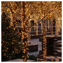 interGo LED-Lichterkette LED 50m Lichterketten Weihnachten Warmweiß Lichte