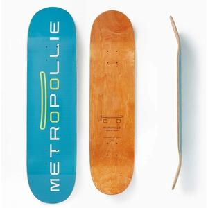 Metropollie Blaues Skateboard, Skateboard, für Kinder, Mädchen, Jugendliche, Erwachsene, Anfänger, 7-lagig, 100 % kanadisches Ahornholz, Hard Rock