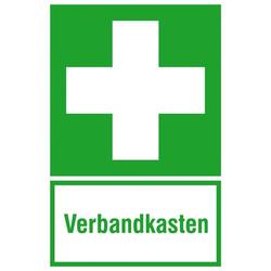 Hinweisschild Erste Hilfe Verbandskasten Folie selbstklebend (B x H) 200mm x 300mm ISO 7010 1St.