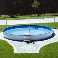"Steinbach Stahlwand Swimming Pool ""Styria rund"",blaue Poolfolie,Ø 460 x 120 cm"