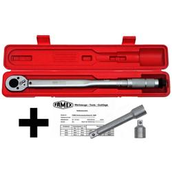 FAMEX Drehmomentschlüssel Drehmoment-Schlüssel-Set 3-tlg. (3 St), (3-tlg)30-210 Nm