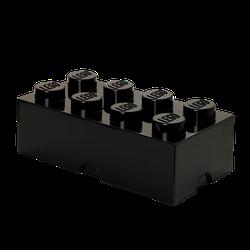 LEGO® Aufbewahrungsstein mit 8 Noppen in Schwarz