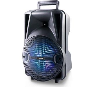 Lauson Partybox Bluetooth   Box mit Radio   Party Lautsprecher mit Discolichter   Karaoke   USB   SD   Mobile Musikbox mit Akku (12 Stunden Laufzeit) LLX35 Schwarz