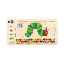 Small Foot Puzzle Raupe Nimmersatt Schichtenpuzzle, Puzzleteile