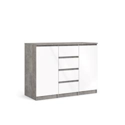 ebuy24 Sideboard Nada Sideboard 2 Türen und 4 Schubladen, beton dek