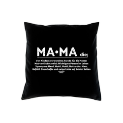 Soreso® Dekokissen Kissen Mama & Urkunde, Geschenke für Mütter Geschenkidee schwarz