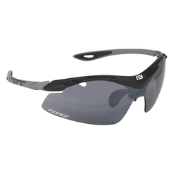 FORCE Fahrradbrille Duke, Polycarbonate Gläser schwarz