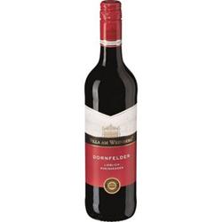 Villa am Weinberg Dornfelder Rotwein Qualitätwein Rheinhessen lieblich 10,5 % vol 0,75 Liter