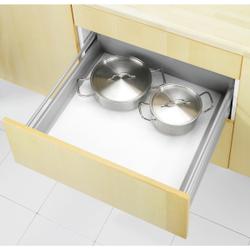 WENKO Premium Anti-Rutsch-Matte, 150 x 50 cm, zuschneidbar, Idealer Rutschstopp für Schränke und Schubladen, Farbe: Weiß, mit Noppen