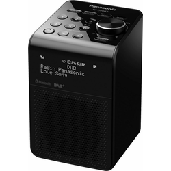 Panasonic RF-D20BT Radio (Digitalradio (DAB), FM-Tuner mit RDS, 3 W) schwarz