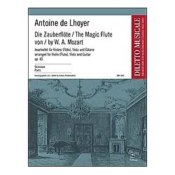 Die Zauberflöte  Bearbeitung für Viola und Gitarre. Wolfgang Amadeus Mozart  - Buch