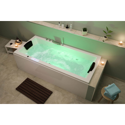 Emotion Whirlpool-Badewanne Unity 190 Premium Whirlpool Set (L/B/H) 190/90/59 cm