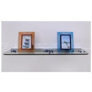 Wand Regal Claro Glasregal, klar 90x20 +Wandschiene Wandboard Wandregal Regalboard Glasboard