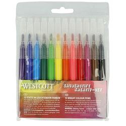 12 WESTCOTT Airbrush-Stifte farbsortiert