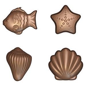 Schokoladenform, Meerestiere 5 g