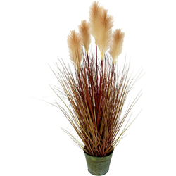 Kunstpflanze Pampasgras, I.GE.A., Höhe 90 cm, Im Metalltopf