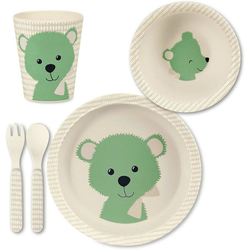 Sterntaler® Kindergeschirr-Set Bambus Geschirr Set, Baylee blu grün