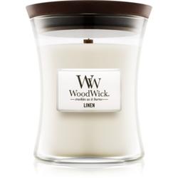 Woodwick Linen Duftkerze mit Holzdocht 275 g