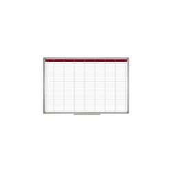 Staples Whiteboard Wochenplanner Alu.R weiß 900x600
