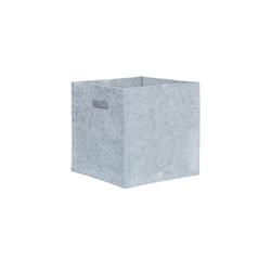 relaxdays Aufbewahrungskorb Quadratischer Filzkorb grau