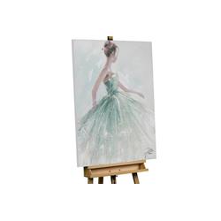 KUNSTLOFT Gemälde Die Eisprinzessin, handgemaltes Bild auf Leinwand