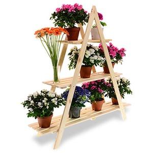 Blumenregal Blumenpyramide Pflanzenpyramide Blumenständer GartenregalHolz RP-01