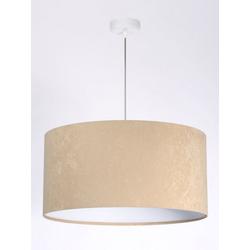 Licht-Erlebnisse Pendelleuchte KYARA Hängeleuchte Schlafzimmer Beige Stoffschirm wohnliche Pendelleuchte Lampe