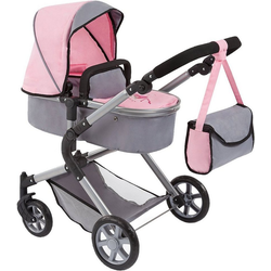 Bayer Puppenwagen Puppenwagen City Neo grau/rosa