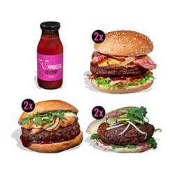 GOURMETFLEISCH Burger-Paket Steak-Burger & Himbeer-Ketchup 8tlg.