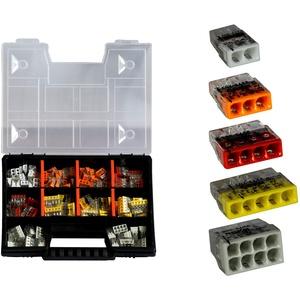 WAGO Sortimentbox NR 5 Set Variobox Wagoklemmen Box Hebelklemmen 2273-202 | 203 | 204 | 205 | 208 | 160 Stück incl. Sortimentbox