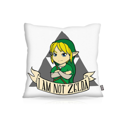 Kissenbezug, VOID, I am not Zelda link game gamer spiel hyrule boy switch legend 40 cm x 40 cm