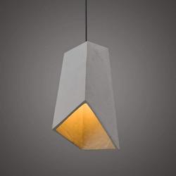 ZMH Pendelleuchte E27 hängeleuchte Beton Betonlampe vintage grau 12.5 cm x 31 cm