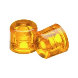 Ersatzköpfe Celluloseacetat 22 mm Durchmesser gelb
