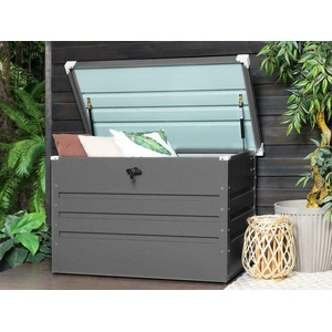 Stahlbox Kissenbox Auflagenbox für Kissen Auflagen Gartenbox Werkzeugkiste Truhe