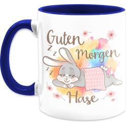 Shirtracer Tasse Guten Morgen Hase - Statement Tasse - Tasse zweifarbig, Keramik