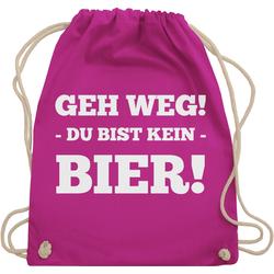 Shirtracer Turnbeutel Geh Weg! Du bist kein Bier! - Festival Turnbeutel - Turnbeutel