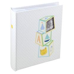 IDEAL TREND Album Baby's Toys Fotoalbum für 200 Fotos in 10x15 cm Baby Kinder Foto Album Memoalbum blau