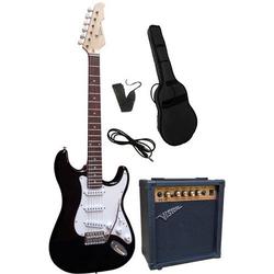 Vision Guitar VG 15 E-Gitarren-Set Schwarz inkl. Tasche, inkl. Verstärker
