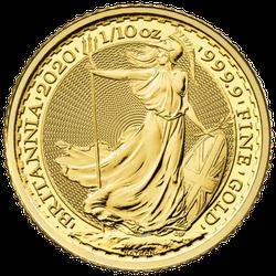 1/10 Unze Gold Britannia 2020