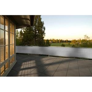 PEDDY SHIELD Balkonsichtschutz , BxH: 500x90 cm, grau/weiß
