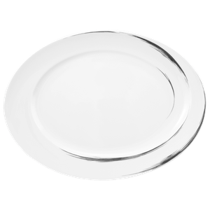 Paso Servierplatte oval 32x26,5 cm Grey Brush