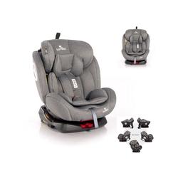 Lorelli Autokindersitz Kindersitz Lyra Gruppe 0+/1/2/3, 8.5 kg, (0 - 36 kg) Kissen, 5-Punkt-Gurt grau