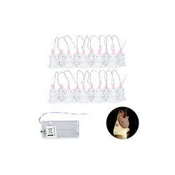 relaxdays LED-Lichterkette 2 x Einhorn Lichterkette