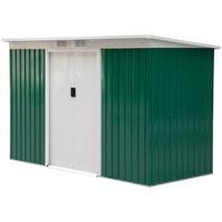 Outsunny Geräteschuppen 2,77 x 1,30 m grün/weiß