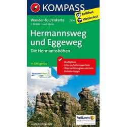Hermannsweg und Eggeweg Die Hermannshöhen 1 : 50 000