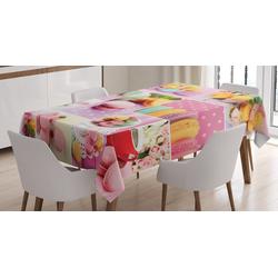 Abakuhaus Tischdecke Personalisiert Farbfest Waschbar Für den Außen Bereich geeignet Klare Farben, Bunt Makronen Servietten Dots 140 cm x 170 cm