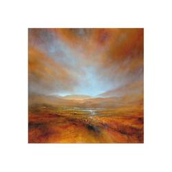 Artland Wandbild Herbstliches Licht, Berge (1 Stück) 40 cm x 40 cm