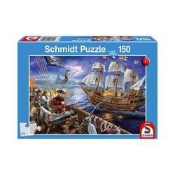 Schmidt Spiele Puzzle Puzzle 150 Teile Abenteuer mit den Piraten, Puzzleteile