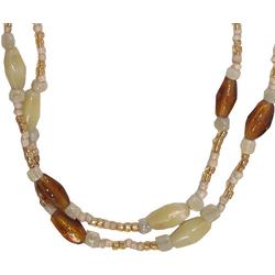 Guru-Shop Perlenkette Modeschmuck, Boho Perlenkette - Modell 11