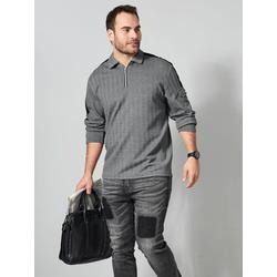 Sweatshirt Men Plus Grau/Schwarz